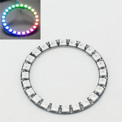 Nya LED Ring 24 X WS2812 5050 RGB LED med Integrerade Drivers