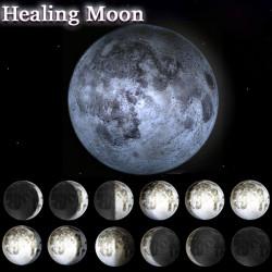 Nyhed LED Healing Moon Væglampe Night Lys Med Fjernbetjening