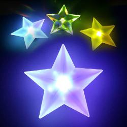Novelty Pentagram Chuk Färg Skiftande Dekoration LED Nattlampa