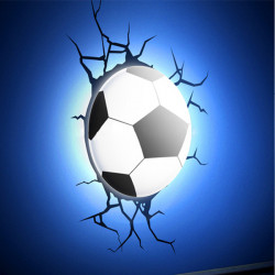 Novelty White Light-controlled 3D DIY Football LED Night Light