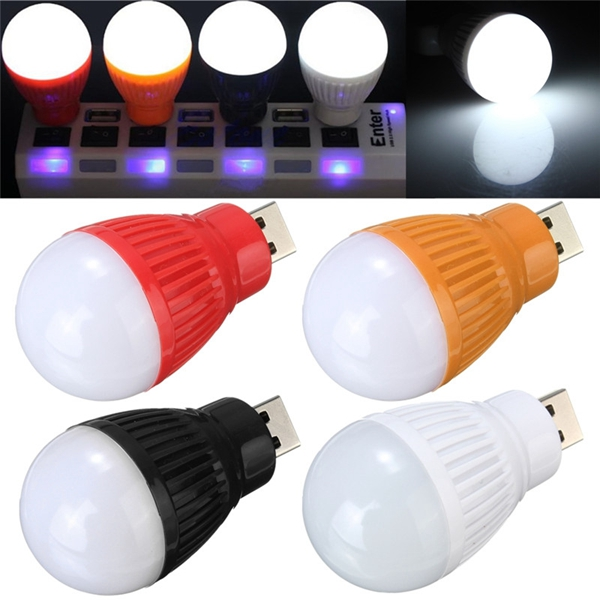 Bærbar 5W USB LED Ball Desk Læselampe Lys Camp Lampe Pære Til PC Laptop 5V LED Belysning