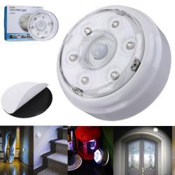 Bärbar 6 LED Trådlös Infraröd PIR Rörelsedetektor Nattlampa