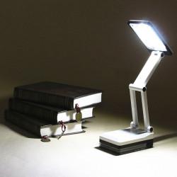 Bärbar Folding LED Läsa Ljus Uppladdningsbart Bordsstudiebordslampa