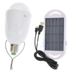 Portable LED Solar Power Hanging Lantern Light Bulb Camping Emergency