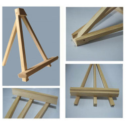 Portable Wood Tripod Stand LED Menu Board Messages Display Holder