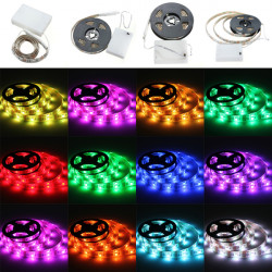 RGB LED Slinga Lights med Battery Box Vattentät Craft Hobby Ljus 50-200CM