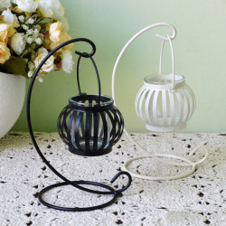 Retro Pumpkin Candlestick Creative European Lantern Craft Candle Lamp