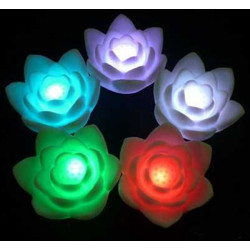 Romantic Color Changing LED Colorful Wishing Lotus Flower Night Light