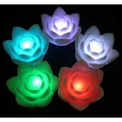Romantische Farbwechsel LED Bunte Wishing Lotus Flower Nachtlicht