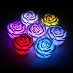 Romantiska Färgglada Gradient Rose Lantern LED Nattlampa Candle Lampa