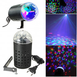 Rotating RGB LED 3D Effect Stage Light Party DJ Disco Lamp Dance Xmas