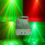Enkel Diplopore 40 Mönster Röd & Grön Laser Projektor Scenstrålkastare LED-belysning