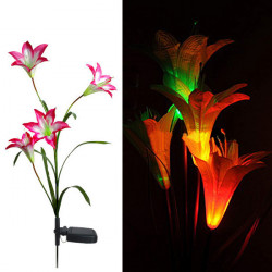 Solar LED Lily Flower Light Color Changing Energy Saving LED Lamp