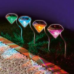 Solar LED RGB Diamond Landskap Ljus Utomhus Trädgård Gräsmatta Yard Lampa