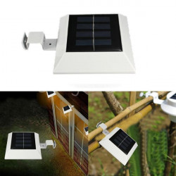 Solar Powered 4 LED Fence Gutter Ljus Utomhus Yard Vägg Pathway