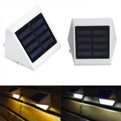 Solar Powered 4 LED Path Steg Stair Väggmonterad Trädgård Yard Ljus