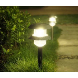 Solar Powered Double-layer LED Lawn Light For Pathway Garden Lighting
