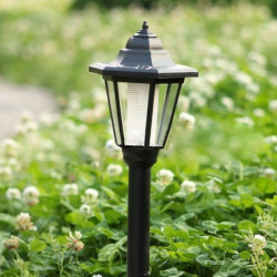 Solar Powered Hex Head Lamp LED Lawn Garden Lamp Light Landscape Light
