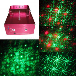 Special 8 Patterns Spin-shadow Firefly Laser Stage Projector Light