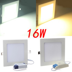 Square 16W White/Warm White Panel LED Ceiling Downlight Lamp 85-265V