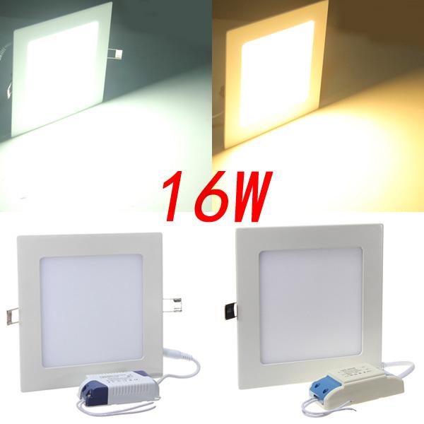 Square 16W Vit / Varm Vit Panel LED Tak Ljus Lampa 85-265V LED-belysning