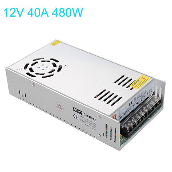 Switching Power 85-265V Til 12V 40A 480W for LED Bånd Lysbånd LED Bånd / Lysbånd