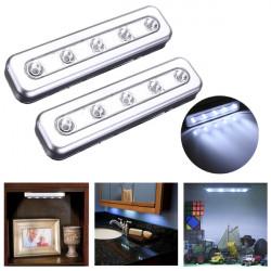 Tippen Sie Lichter 5 LED selbstklebe Unter Kabinett drücken Nachtlicht