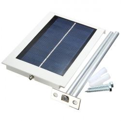 Ultratunn Vattentät 12LED Solar Sensor Wall Street Ljus Trädgård Lampa