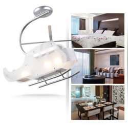 Vivid Crystal Helicopter Ceiling Pendant Lamp For Children's Room
