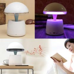 Trådløs Blåtooth Højttaler LED Natte Lampe Med Vækkeur for iPhone