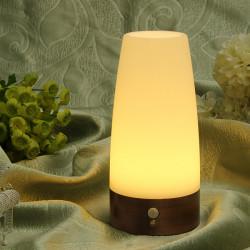 Trådlös Rörelsesensor Cylinder LED Nattlampa Batteridrivna Lampa