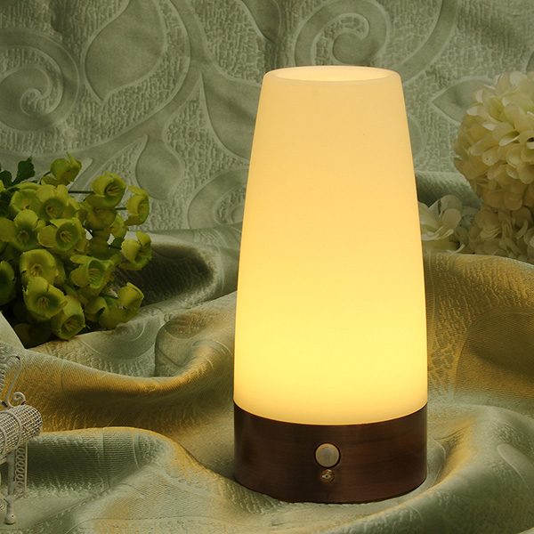 Wireless Motion Sensor Cylinder LED Night Light Battery Powered Lamp LED Lighting