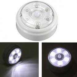 Trådlös PIR Infraröd Rörelsesensor 6 LED Nattlampa Hem Utomhus