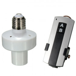 Drahtlos Remote Control E27 Lampen Birnen Halter Hutstutzen Schalter