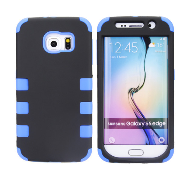 6 Dots Robot Pattern PC Silicone Case Cover For Samsung Galaxy S6