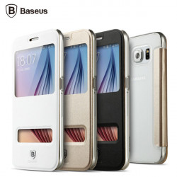 Baseus Brand View Window Leather Case For Samsung Galaxy S6