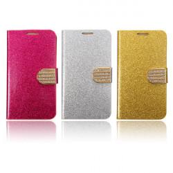 Bling Card Wallet Flip PU Leather Stand Cover Case For Samsung Galaxy S6 Edge