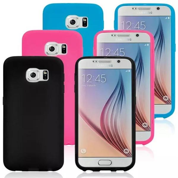 Genomskinlig Flip TPU Dual Skyddsfodral Cover för Samsung Galaxy S6