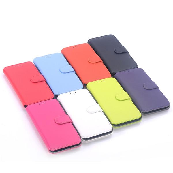 Sydkorea Style Läder Ställ Fodral Skal till Samsung Galaxy S6 G9200