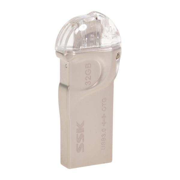 16/32 / 64GB SSK SFD255 USB Flash Laufwerk u Festplatte für OTG Handy Speicherkarten
