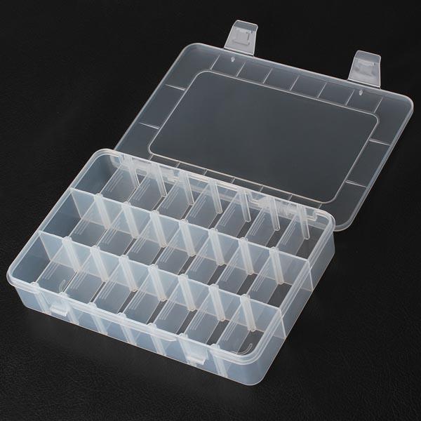24 Rum Opbevaring Plast Reparation Værktøjer Box til Mobiltelefon Mobiltelefon Værktøj