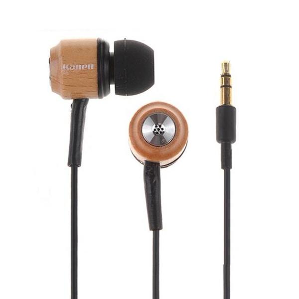3.5mm Kanen KM-92 Stereo Trä In-ear Hörlurar för MP3-spelare Högtalare & Hörlurar