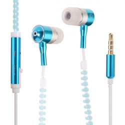 3,5 mm Zipper In Ear Kopfhörer mit Mikrofon für Handy