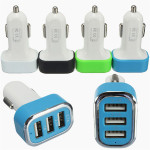 3 Ports USB Car Auto Charger Adapter For Mobile Phone Chargers & Cables