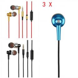 3 X 3.5mm In Ohr freihändiger Kopfhörer für Handy