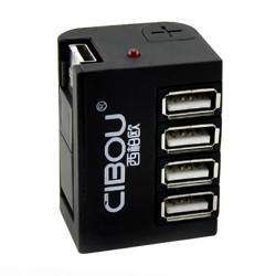 4 Ports Universal Card Reader High Speed USB Splitter Hub