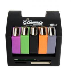 5 Ports Universal Kartenleser Hochgeschwindigkeits USB Teiler Naben