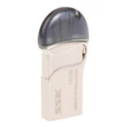 8- / 16/32 / 64GB SSK SFD238 USB Flash Drive U Disk for OTG Mobiltelefon