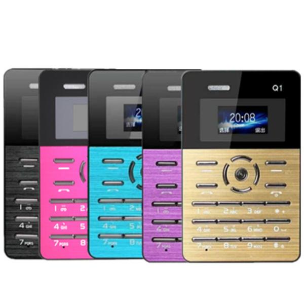 AIEK Qmart Q1 Ultra-thin Pocket Mini Card Mobile Phone Feature Phones