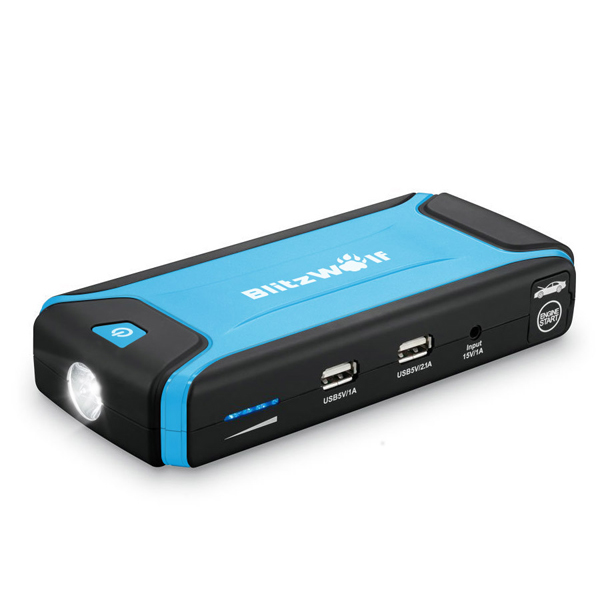 BlitzWolf ™ K3 400A Jump Starter Starthjälp Multi-Function Bil 12000mAh Dual USB PowerBank Skydd för LED Bilelektronik